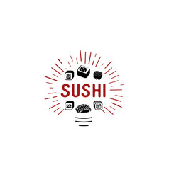 logo and emblem for restaurants of japanese vector image