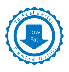 Low fat badge vector