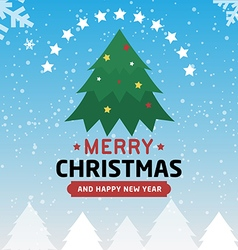 Merry christmas and happy new year type font vector image