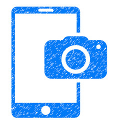 Mobile camera grunge icon vector