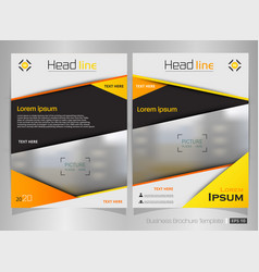 modern brochure of yellow gradient template vector image