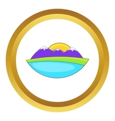 Mountain landscape icon vector