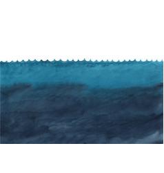 ocean wave and under sea watercolor vector image