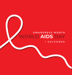 On theme world aids day vector