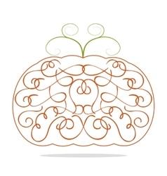 Ornamental decorative orange pumpkin vector image