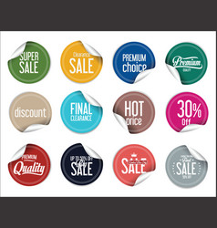 paper sale stickers collection 3 vector image