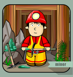 person profession miner vector image