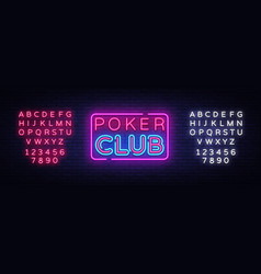 poker club sign design template poker club vector image