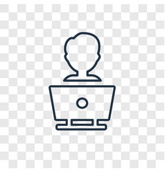 Programmer concept linear icon isolated on vector