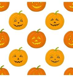 Pumpkins Jack O Lantern seamless background vector