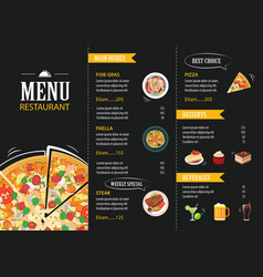 Restaurant cafe menu template flat design vector