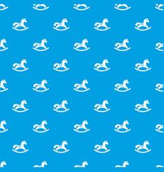 Rocking horse pattern seamless blue vector