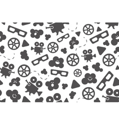 Seamless pattern of movie design elements vector