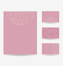 Set of blank templates vector