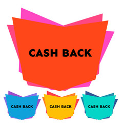 set of four cash back stickers vector image
