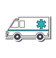 Single ambulance icon vector