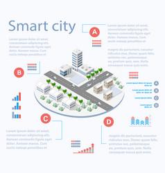 Smart city isometric vector