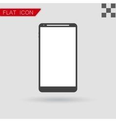 smartphone icon Flat Style with red vector image