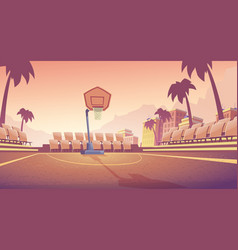 street basketball court outdoor stadium vector image