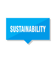Sustainability price tag vector