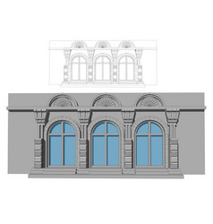 Three arched windows vector