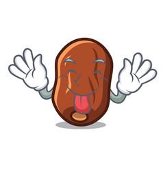 Tongue out dates fruit mascot cartoon vector