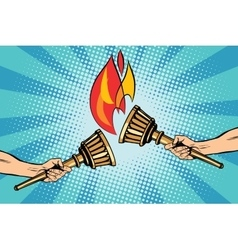 Torches torch relay vector image