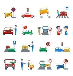 Traffic Violation Icons Set vector