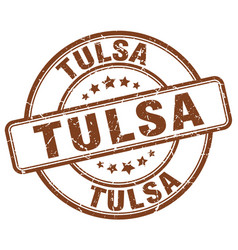 Tulsa stamp vector