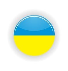 Ukraine icon circle vector image