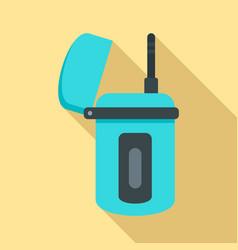 Underwater walkie talkie icon flat style vector
