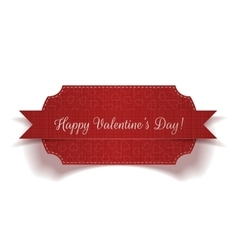 Valentines Day red greeting Label Template vector