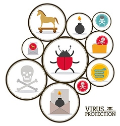 virus and security system design vector image