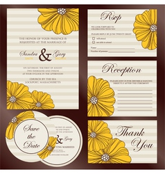 wedding cards set copy vector image