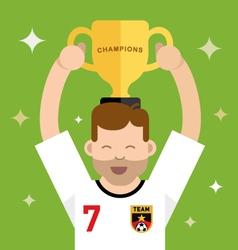 Winning a trophy vector