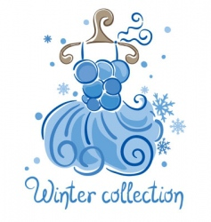 winter fashion collection vector image
