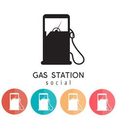 gas station social design template vector image