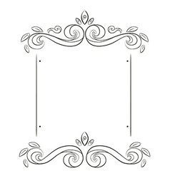 grunge flowers frame silhouette vector image