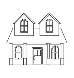 house residential real estate two story column vector image vector image