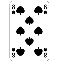 Poker playing card 8 spade vector image vector image