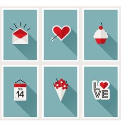 Set of romantic Valentines day symbols vector image