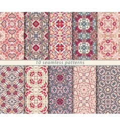 set of ten arabic patterns vector image