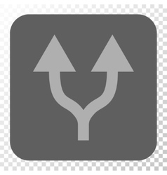 Split arrows up rounded square button vector