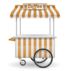 street food cart coffee vector image