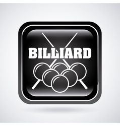 billiard tournament vector image vector image