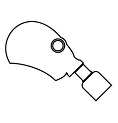 Gasmask or inhaler icon black color flat style vector