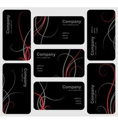 Black card set vector image