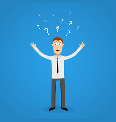 confused business man in panic vector image