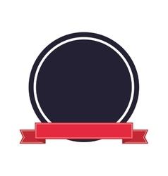 seal stamp ribbon design vector image