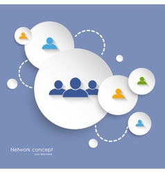 Social networking background vector image vector image